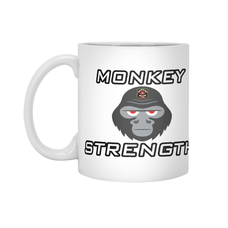 Monkey Strength Accessories Mug by Vegetable Police