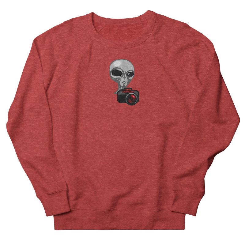 Camera Conspiracies Women's French Terry Sweatshirt by Vegetable Police