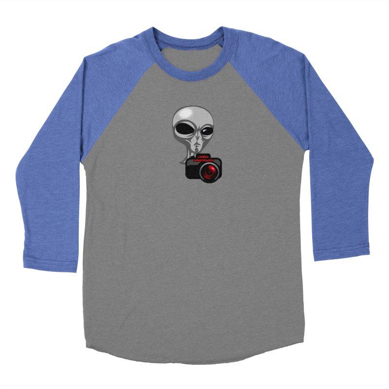Camera Conspiracies Women's Baseball Triblend Longsleeve T-Shirt by Vegetable Police