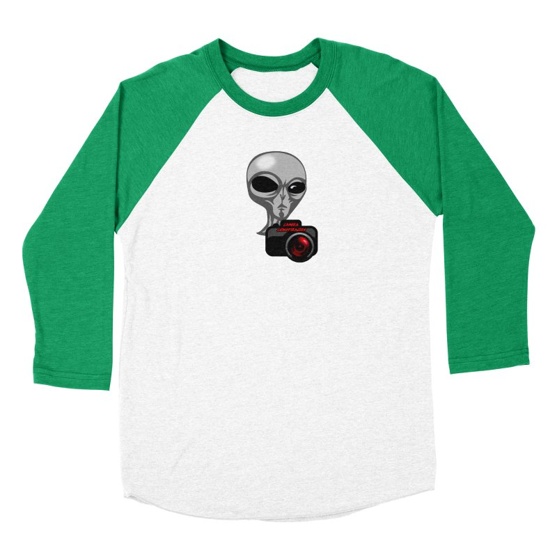 Camera Conspiracies Men's Baseball Triblend Longsleeve T-Shirt by Vegetable Police