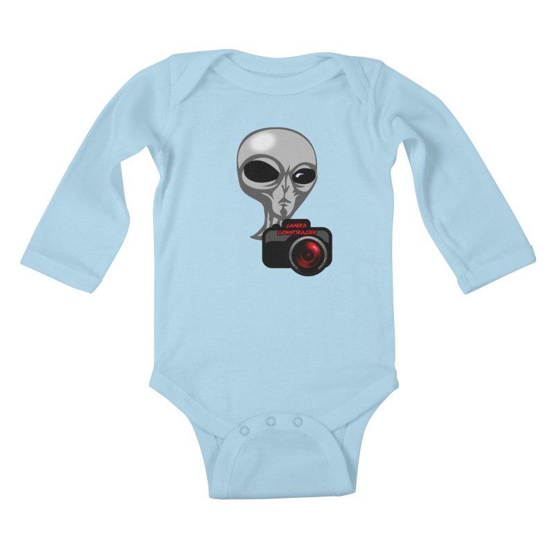 Camera Conspiracies Kids Baby Longsleeve Bodysuit by Vegetable Police