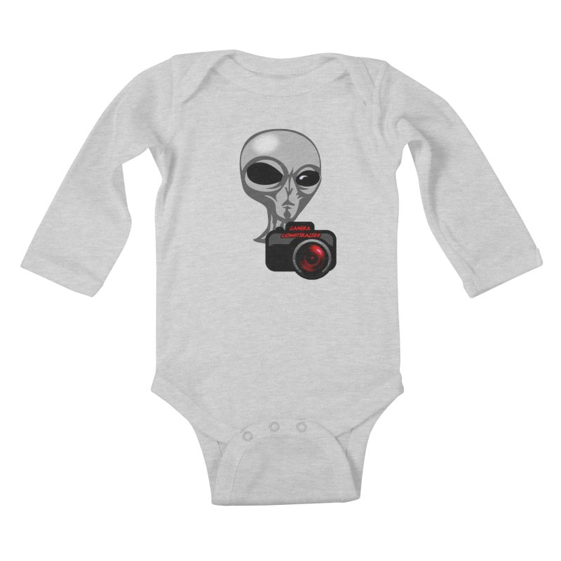 Camera Conspiracies Kids Baby Longsleeve Bodysuit by Vegetable Police