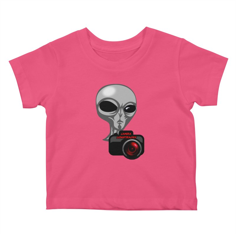Camera Conspiracies Kids Baby T-Shirt by Vegetable Police