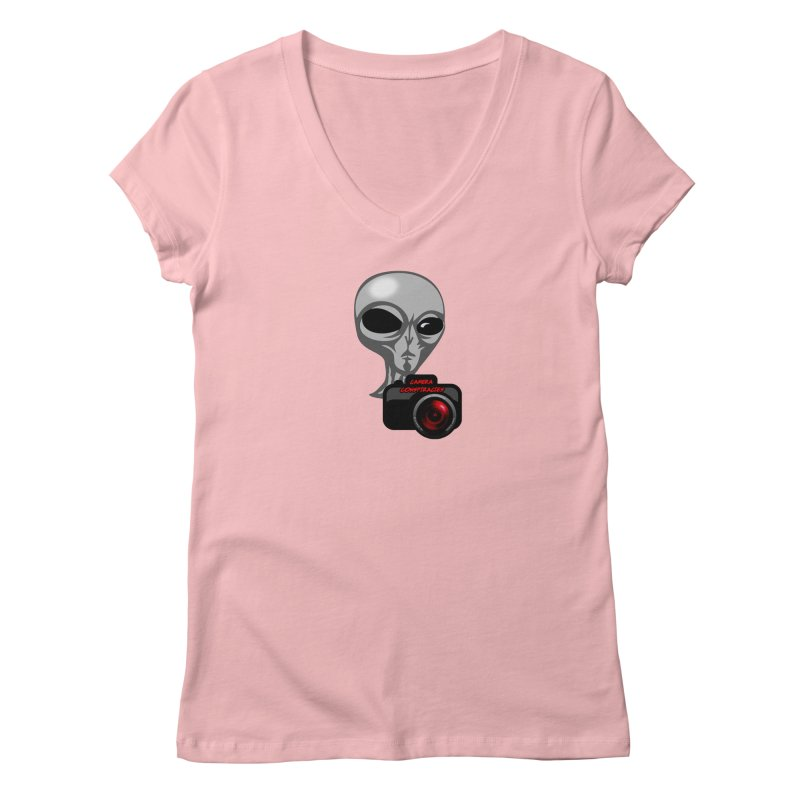 Camera Conspiracies Women's Regular V-Neck by Vegetable Police