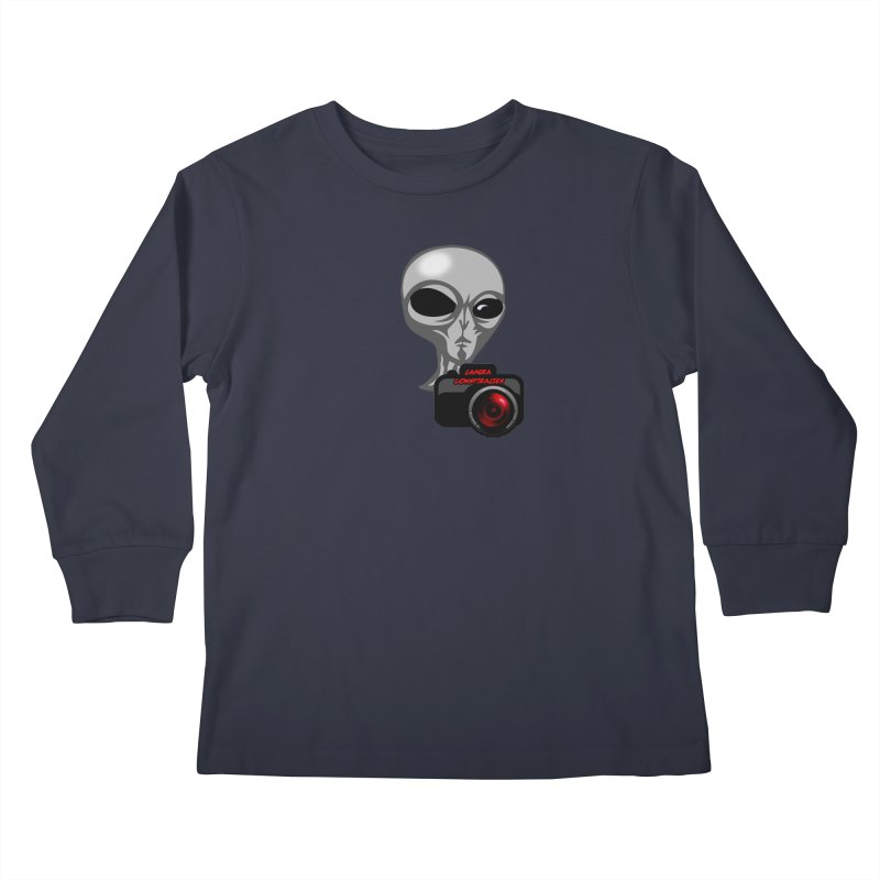 Camera Conspiracies Kids Longsleeve T-Shirt by Vegetable Police