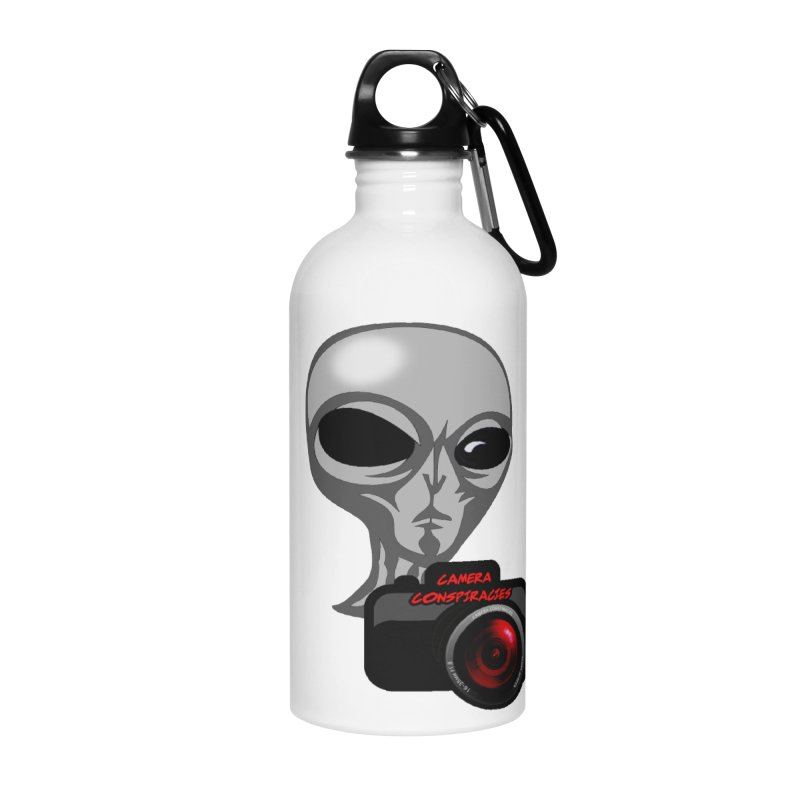 Camera Conspiracies Accessories Water Bottle by Vegetable Police