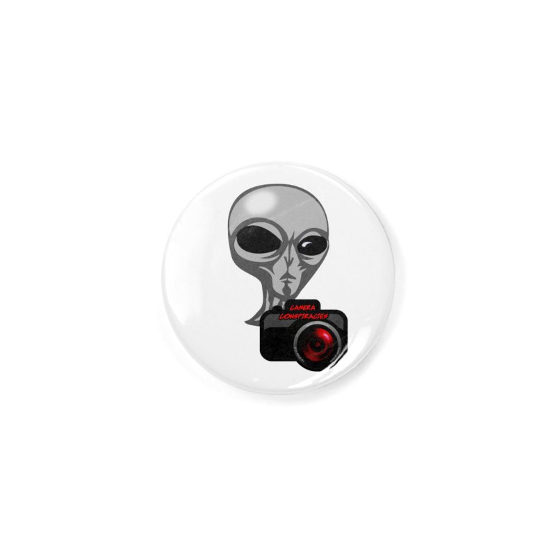 Camera Conspiracies Accessories Button by Vegetable Police