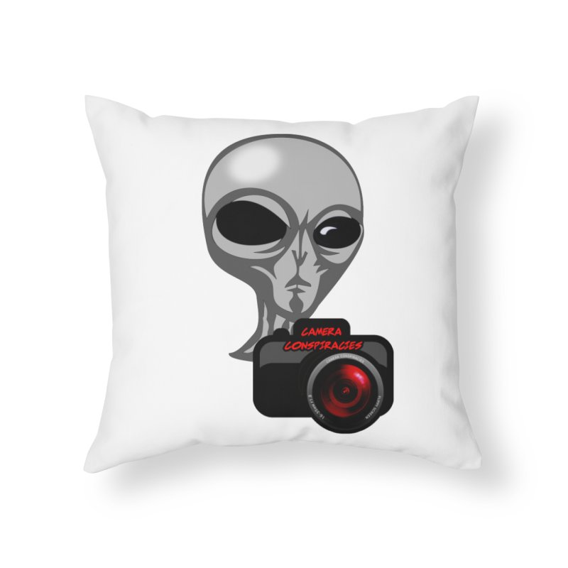Camera Conspiracies Home Throw Pillow by Vegetable Police