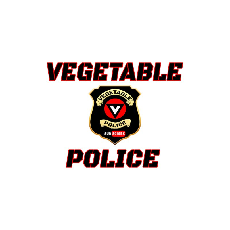 Vegetable Police (Black Text) Men's Pullover Hoody by Vegetable Police