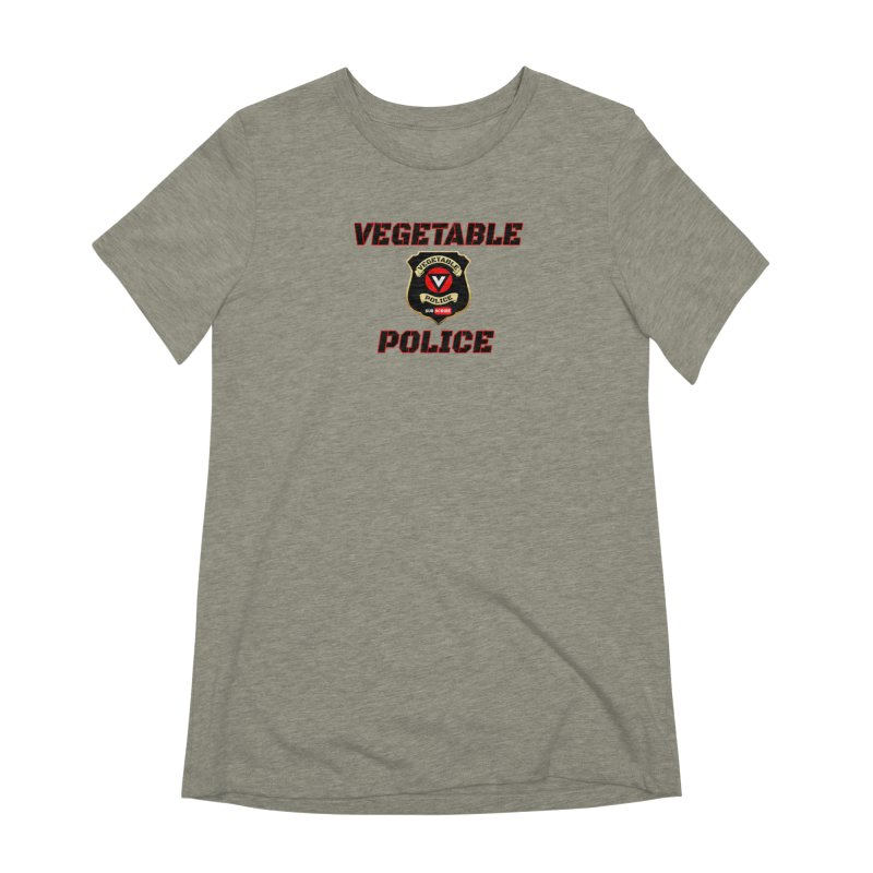 Vegetable Police (Black Text) Women's Extra Soft T-Shirt by Vegetable Police