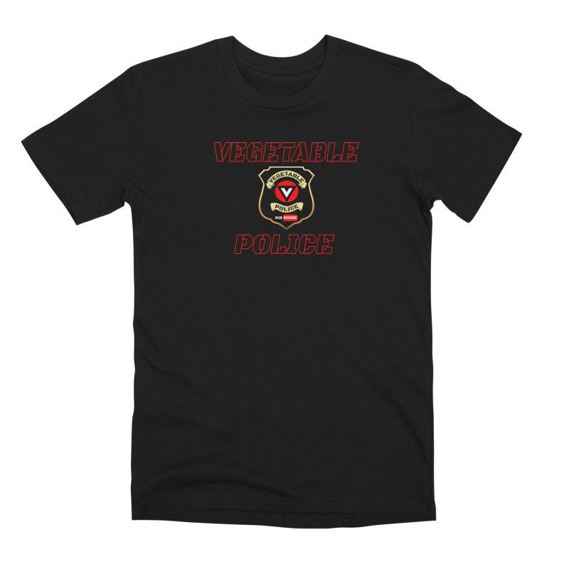 Vegetable Police (Black Text) Men's Premium T-Shirt by Vegetable Police