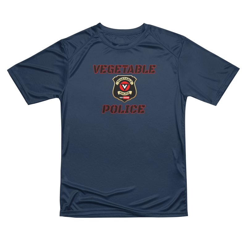 Vegetable Police (Black Text) Men's Performance T-Shirt by Vegetable Police