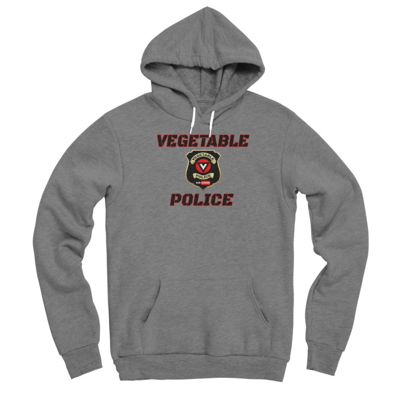 Vegetable Police (Black Text) Women's Sponge Fleece Pullover Hoody by Vegetable Police