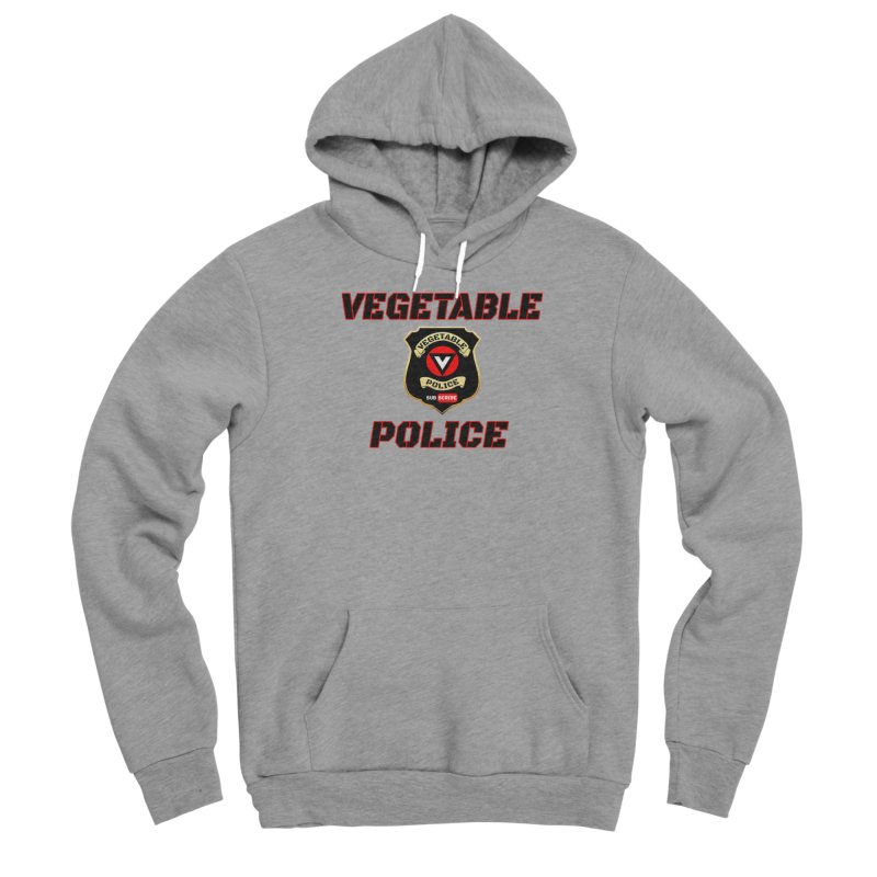 Vegetable Police (Black Text) Men's Sponge Fleece Pullover Hoody by Vegetable Police