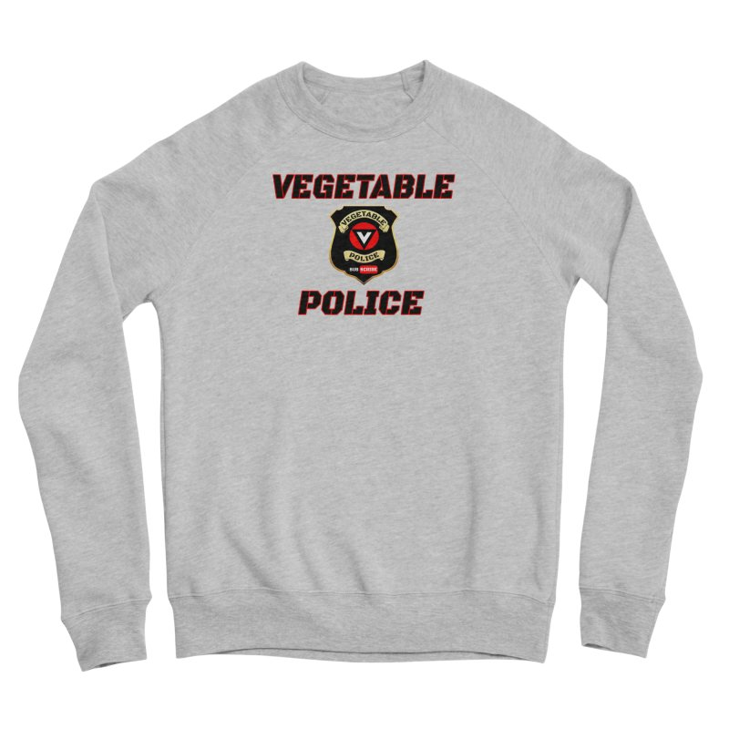 Vegetable Police (Black Text) Women's Sponge Fleece Sweatshirt by Vegetable Police