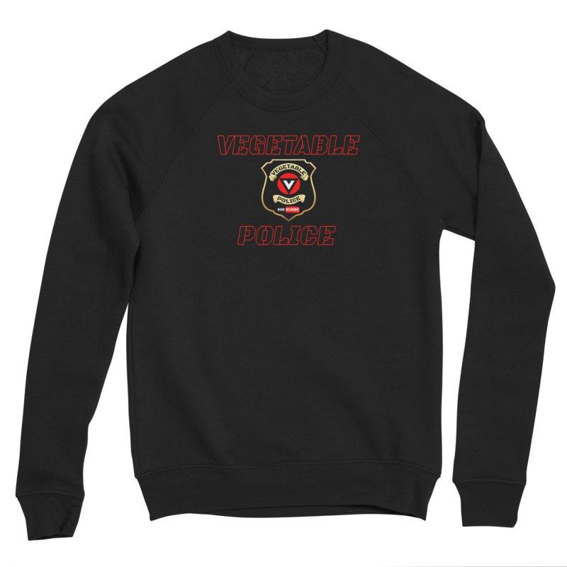 Vegetable Police (Black Text) Women's Sponge Fleece Sweatshirt by Vegetable Police