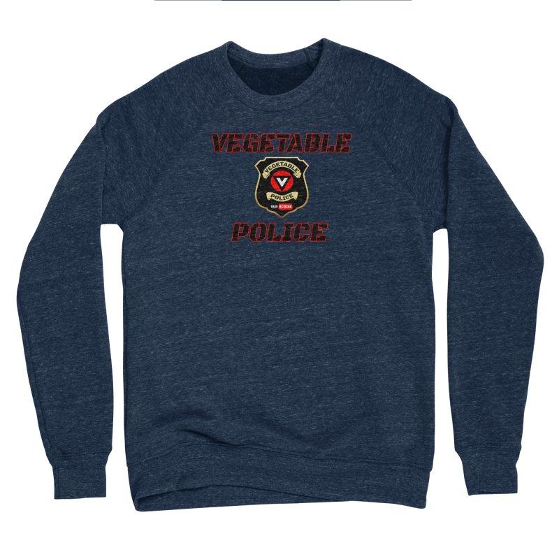 Vegetable Police (Black Text) Men's Sponge Fleece Sweatshirt by Vegetable Police