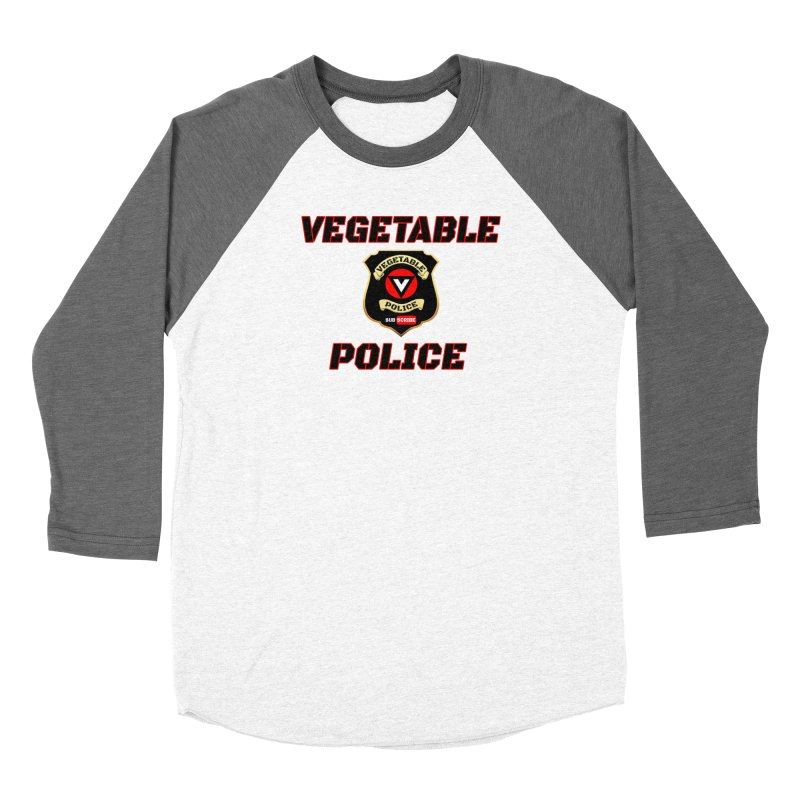 Vegetable Police (Black Text) Women's Longsleeve T-Shirt by Vegetable Police