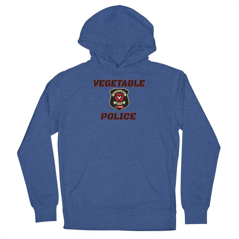 Vegetable Police (Black Text) Women's French Terry Pullover Hoody by Vegetable Police
