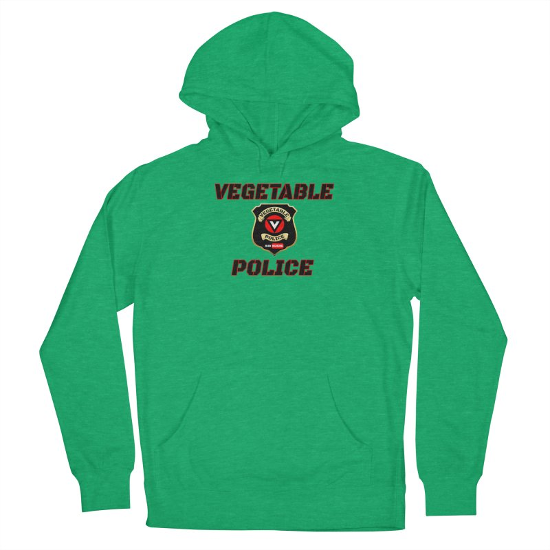 Vegetable Police (Black Text) Men's French Terry Pullover Hoody by Vegetable Police