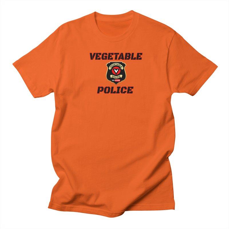 Vegetable Police (Black Text) Men's Regular T-Shirt by Vegetable Police