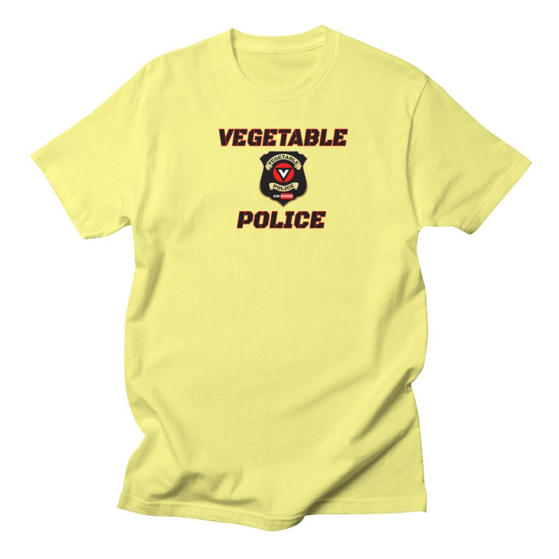 Vegetable Police (Black Text) Women's Regular Unisex T-Shirt by Vegetable Police