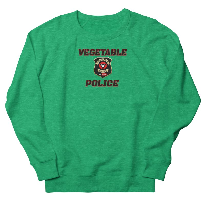 Vegetable Police (Black Text) Men's French Terry Sweatshirt by Vegetable Police
