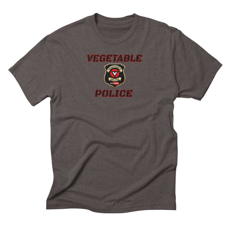 Vegetable Police (Black Text) Men's Triblend T-Shirt by Vegetable Police