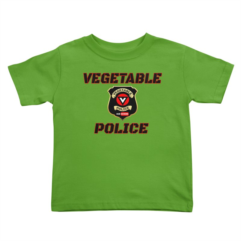 Vegetable Police (Black Text) Kids Toddler T-Shirt by Vegetable Police
