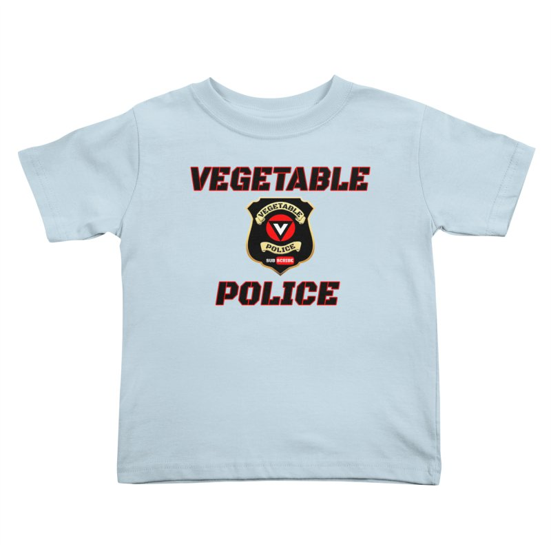 Vegetable Police (Black Text) Kids Toddler T-Shirt by Vegetable Police