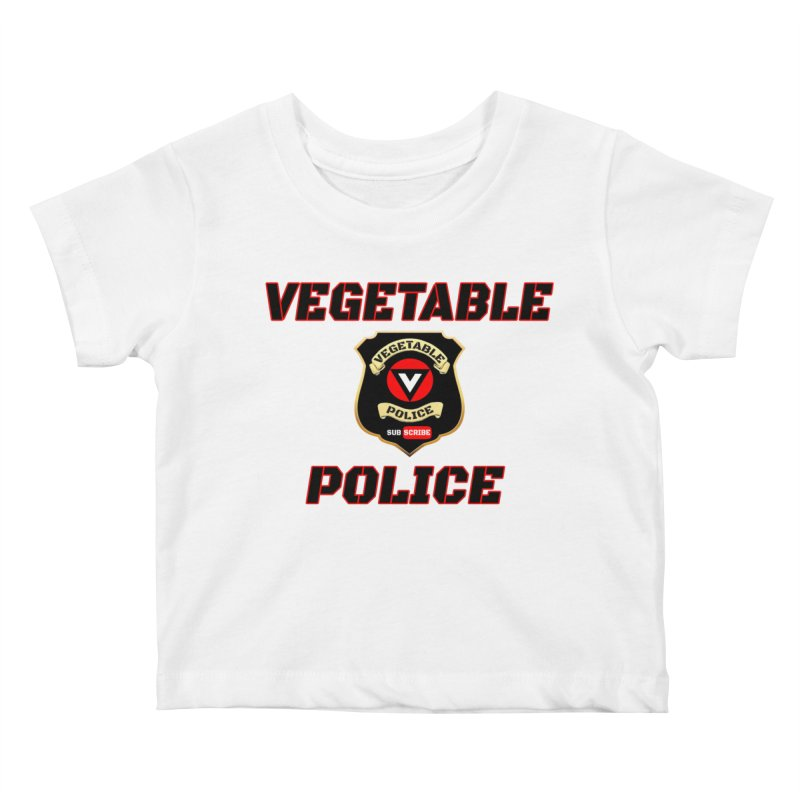 Vegetable Police (Black Text) Kids Baby T-Shirt by Vegetable Police