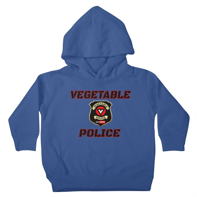 Vegetable Police (Black Text) Kids Toddler Pullover Hoody by Vegetable Police