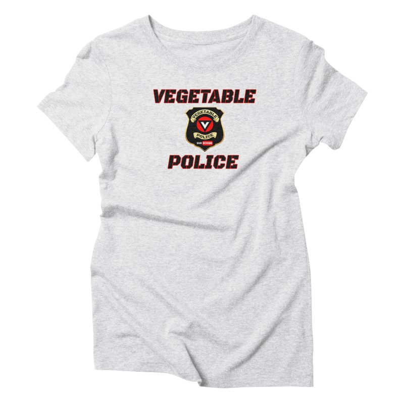 Vegetable Police (Black Text) Women's T-Shirt by Vegetable Police