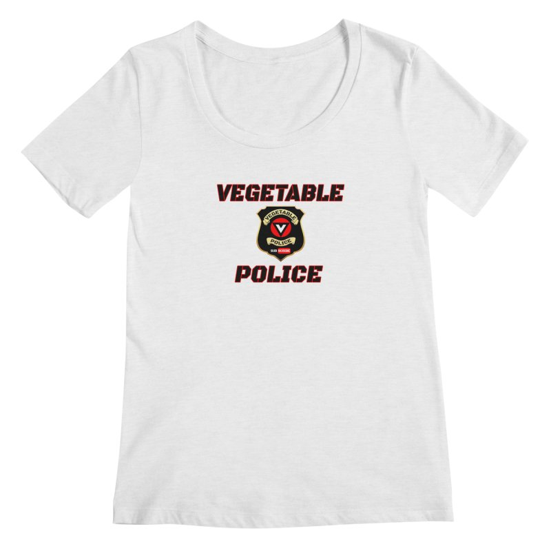 Vegetable Police (Black Text) Women's Regular Scoop Neck by Vegetable Police