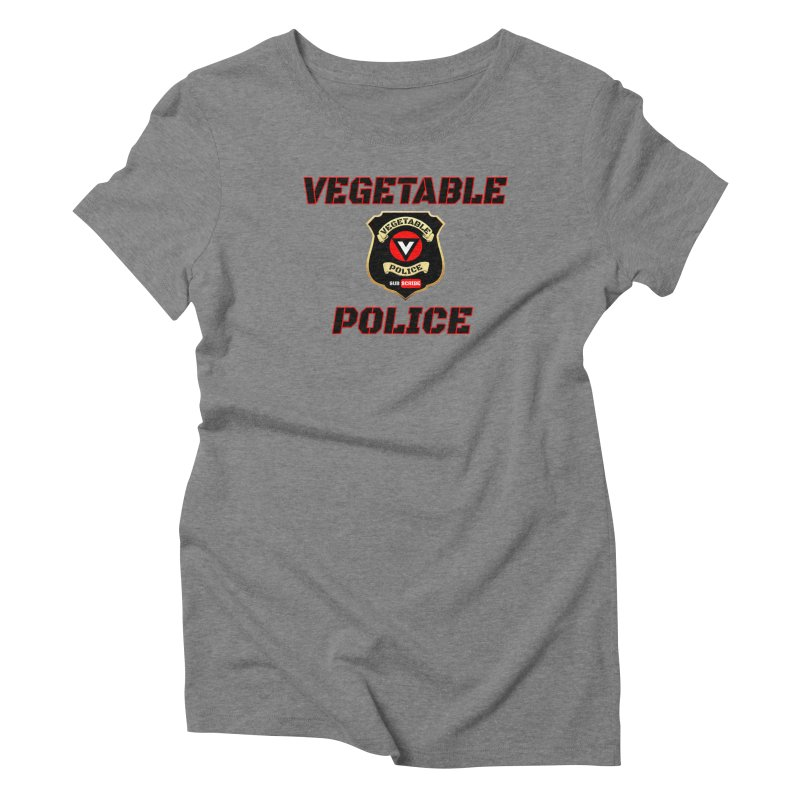 Vegetable Police (Black Text) Women's Triblend T-Shirt by Vegetable Police