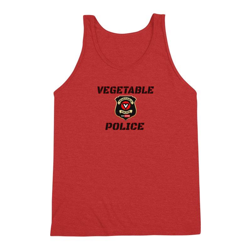 Vegetable Police (Black Text) Men's Triblend Tank by Vegetable Police