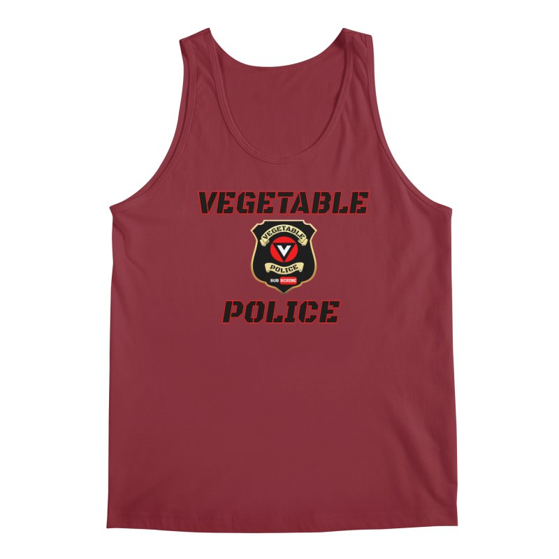 Vegetable Police (Black Text) Men's Regular Tank by Vegetable Police