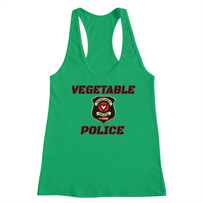 Vegetable Police (Black Text) Women's Tank by Vegetable Police