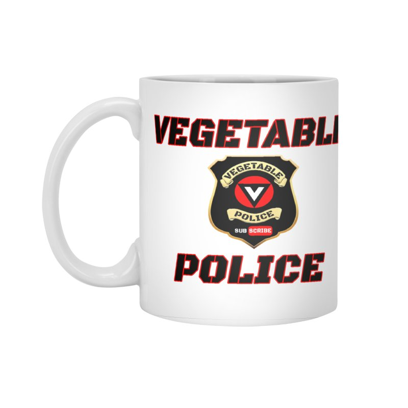 Vegetable Police (Black Text) Accessories Standard Mug by Vegetable Police