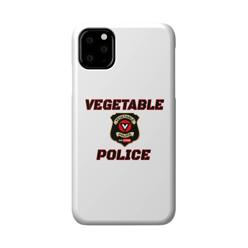 Vegetable Police (Black Text) Accessories Phone Case by Vegetable Police