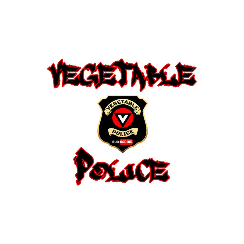 Vegetable Police Undercover (Black Graffiti) Women's V-Neck by Vegetable Police