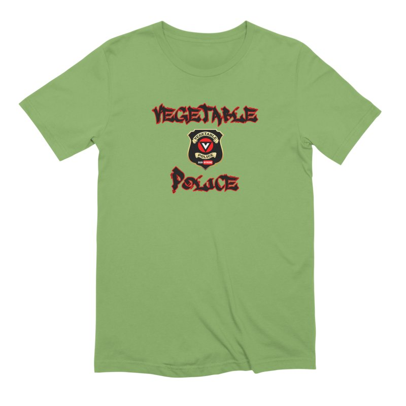 Vegetable Police Undercover (Black Graffiti) Men's Extra Soft T-Shirt by Vegetable Police