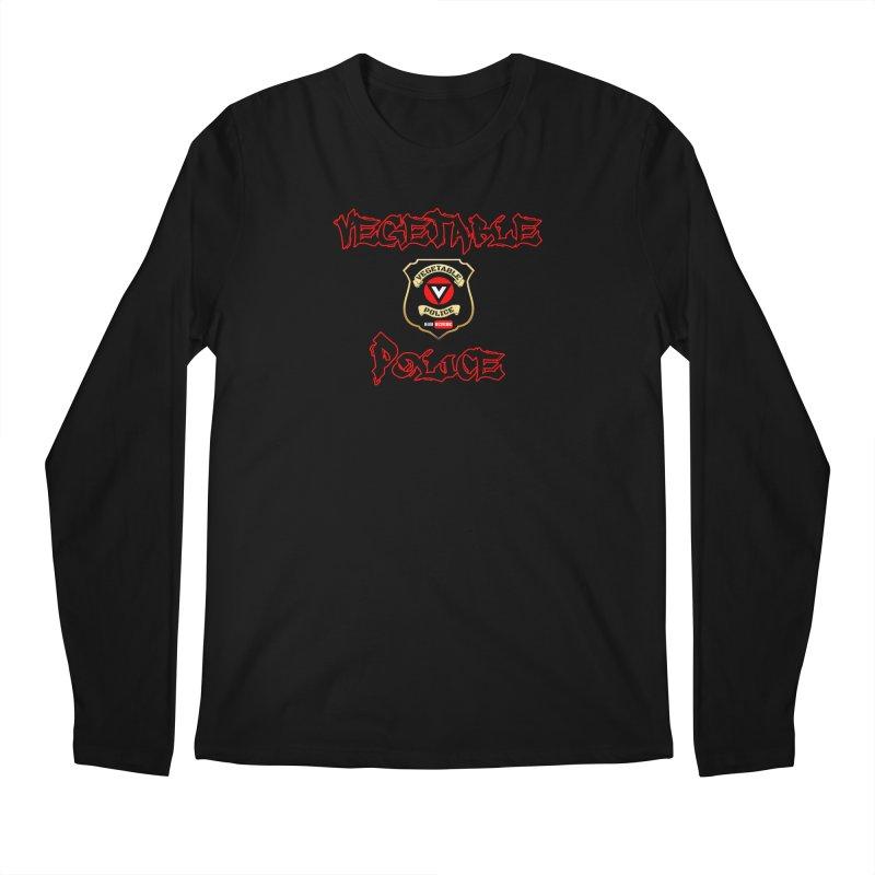 Vegetable Police Undercover (Black Graffiti) Men's Regular Longsleeve T-Shirt by Vegetable Police