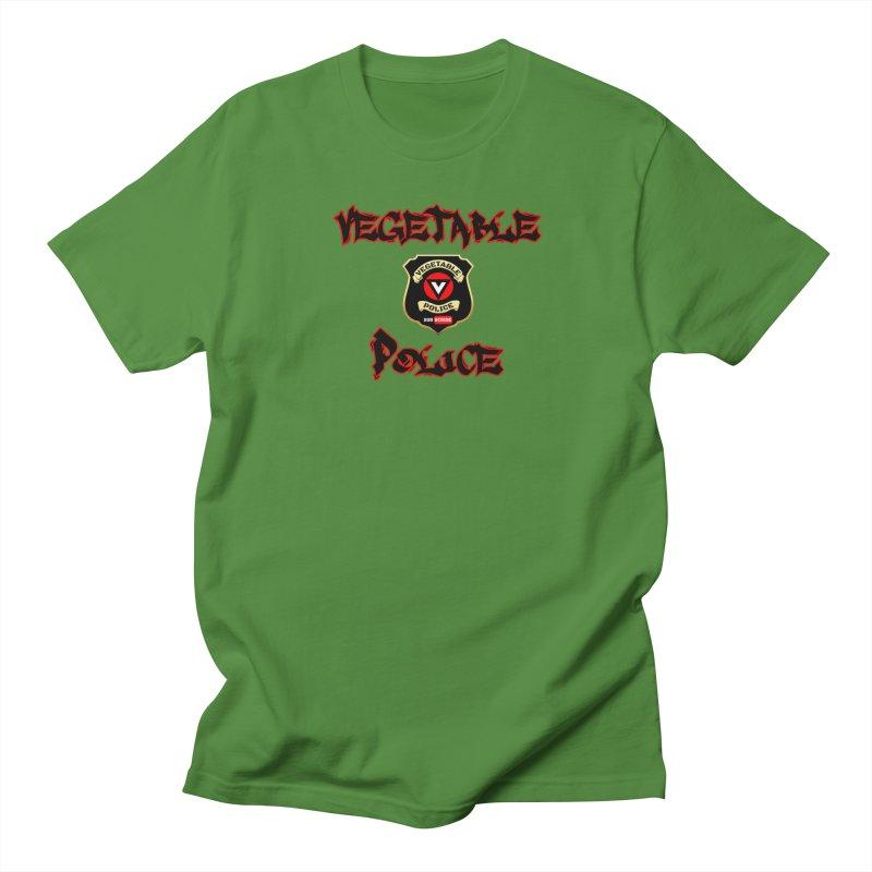 Vegetable Police Undercover (Black Graffiti) Men's T-Shirt by Vegetable Police