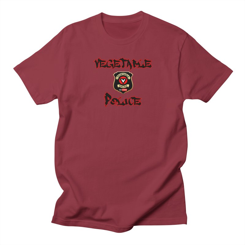 Vegetable Police Undercover (Black Graffiti) Women's Regular Unisex T-Shirt by Vegetable Police