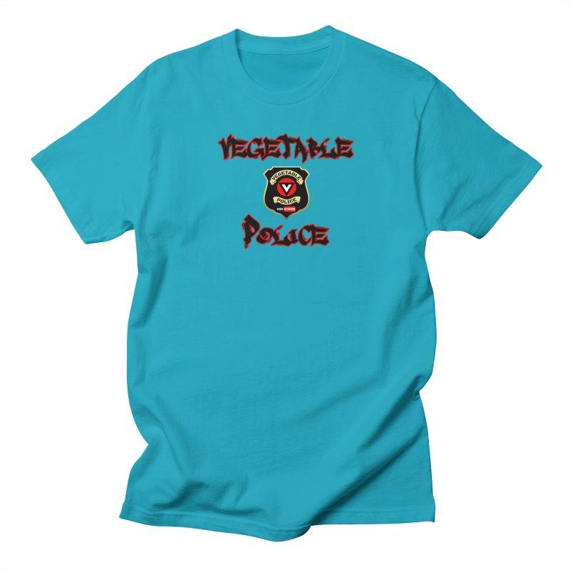 Vegetable Police Undercover (Black Graffiti) Men's Regular T-Shirt by Vegetable Police