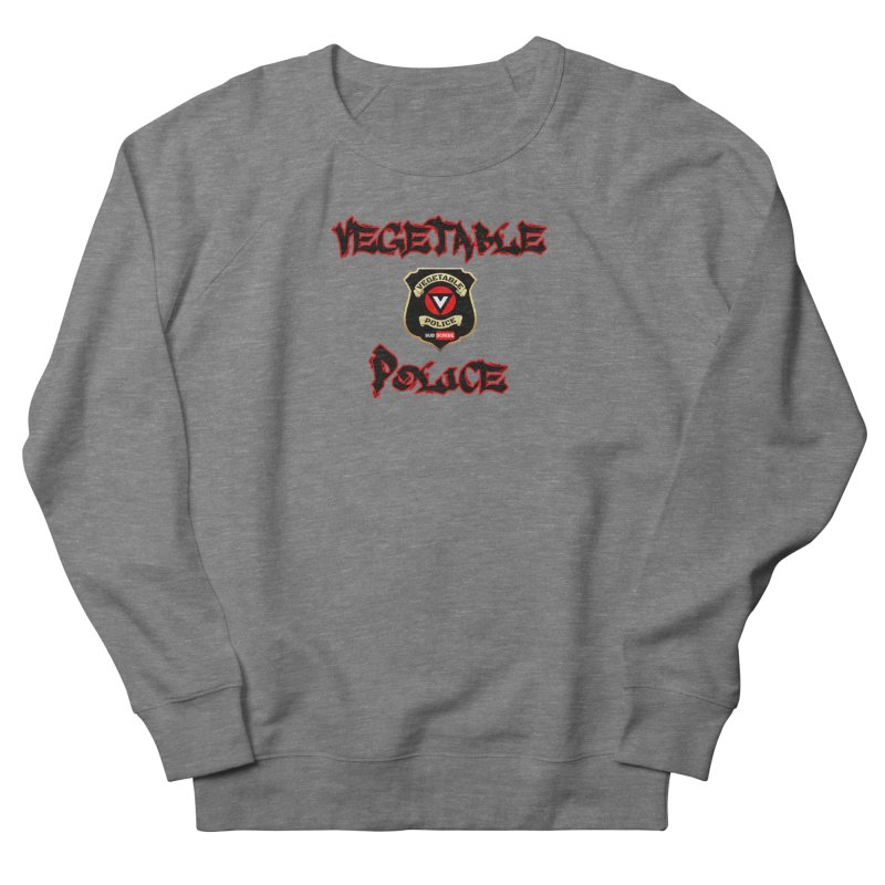Vegetable Police Undercover (Black Graffiti) Women's French Terry Sweatshirt by Vegetable Police