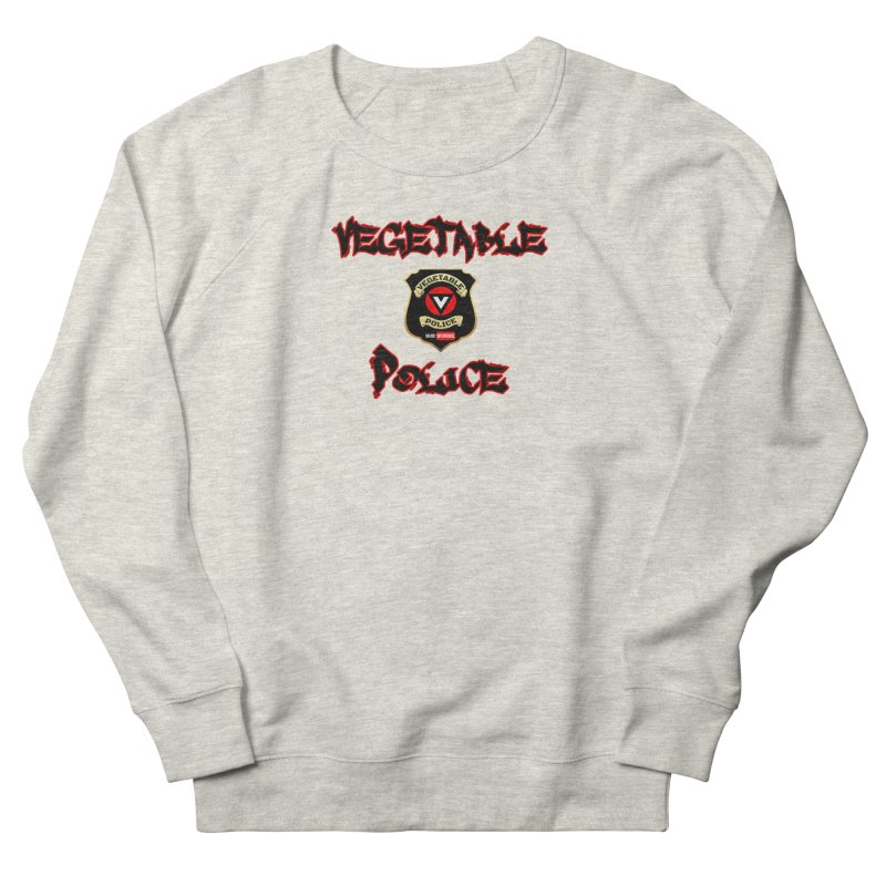 Vegetable Police Undercover (Black Graffiti) Men's French Terry Sweatshirt by Vegetable Police