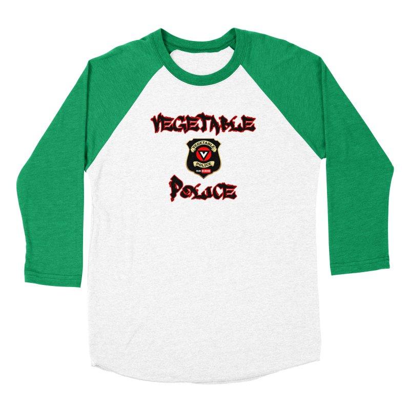 Vegetable Police Undercover (Black Graffiti) Women's Baseball Triblend Longsleeve T-Shirt by Vegetable Police