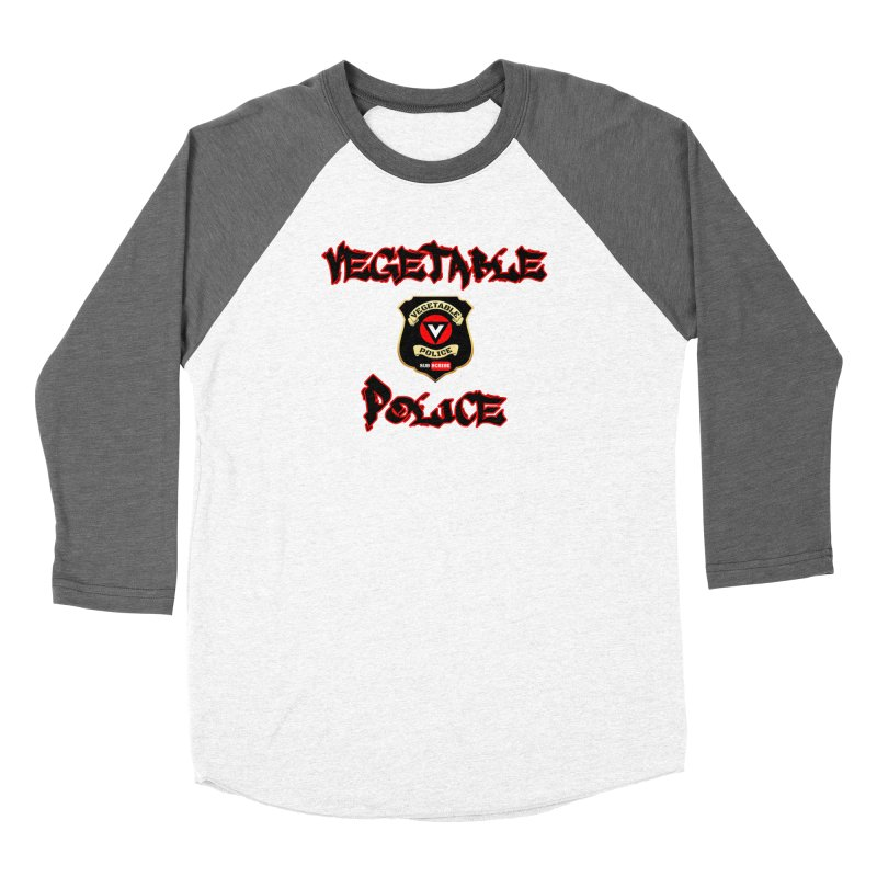 Vegetable Police Undercover (Black Graffiti) Men's Baseball Triblend Longsleeve T-Shirt by Vegetable Police